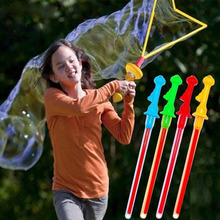 40cm Summer Outdoor Toys Water Blowing Bubbles Guns With Concentrated Soap Liquid