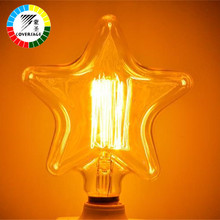 Coversage Edison Bulb 40W Retro Vintage E27 Lamp Bulbs Light Bulb 110V Heart Star Indoor Oven Light Edison Lamps Bedroom Hotel(China)