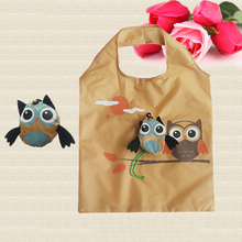 Foldable Shopping Bags Cute Animal Owl Organizer Beautiful Reusable Bag Hot Selling Home Eco bag Storage Handbag