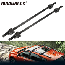 "Ironwalls Adjustable 120cm 48"" Car Roof Rock Cross Bars Luggage Bike Rack With Security Lock Luggage Carrier System 75kg/165LBS"