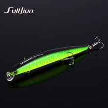 Fishing Lures Wobblers Hard Minnow Crankbait Aritificial Laser Reflective Fishing Tackle With Feather Hooks Pesca Isca Baits