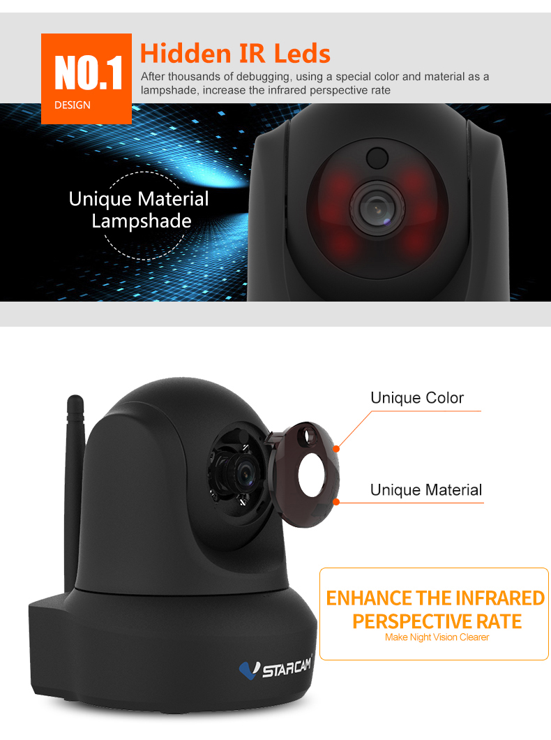 VStacam C29S 1080P Full HD Wireless IP Camera CCTV WiFi Home Surveillance Security Camera System Indoor PTZ Camera