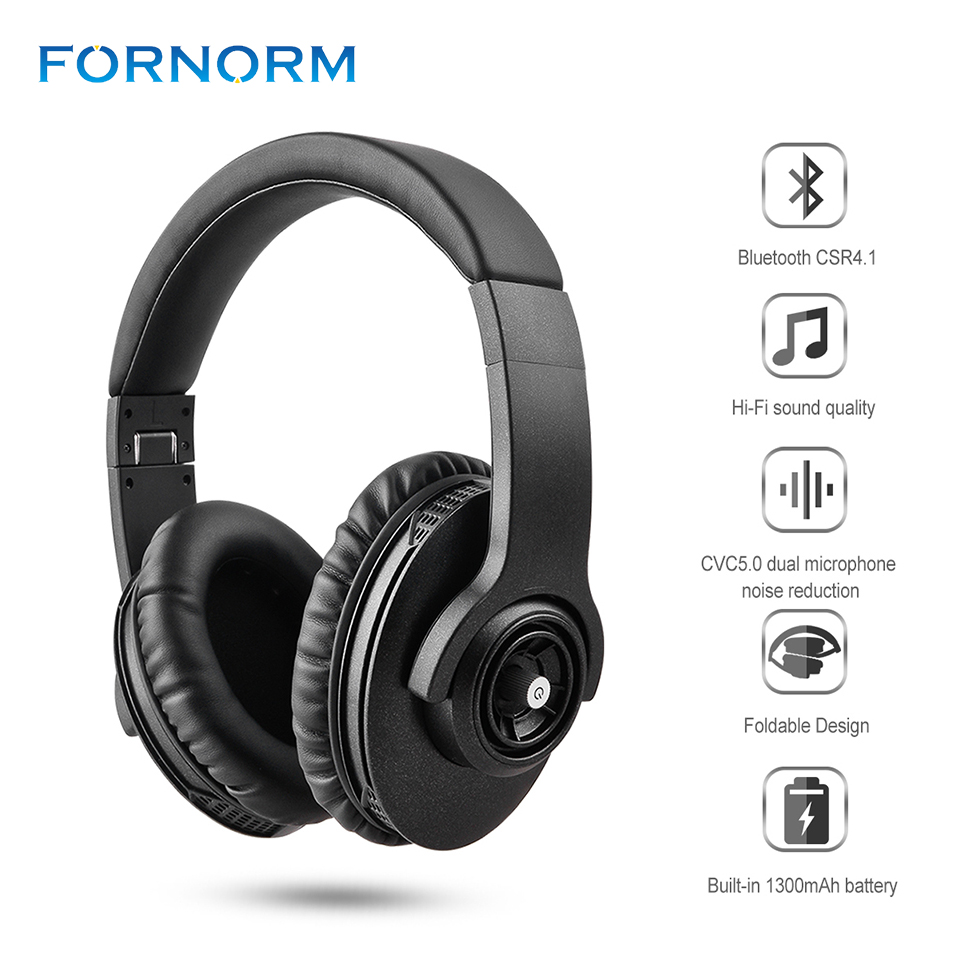BT4.1 Stereo Bluetooth Headset Adjustable Earphone Wireless Headphones Headset with Mic and Volume Control for Smartphone Adults<br>