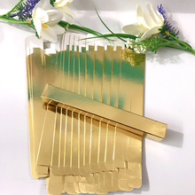 100pcs Gold Eyeliner Eyebrow Pencil Packaging Box 15x15x145mm(China)