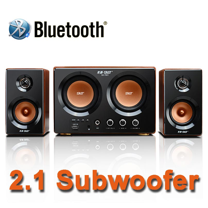 2016 New Hi-Fi Two 3.5 Inch Subwoofer Audio System Bluetooth Wooden Subwoofer Support TF Card And USB Audio Playback <br><br>Aliexpress