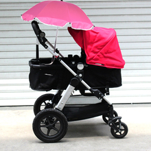 Pink Baby Strollers Umbrella UV 360 Degrees Adjustable Direction Baby Bike Pram Pushchair Stroller Sunshade Umbrella with Clip
