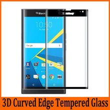 3D Glass For BlackBerry Priv Tempered Glass Full Coverage 9H 3D Curved Mobile Phone Premium Full Cover Screen Protector Film