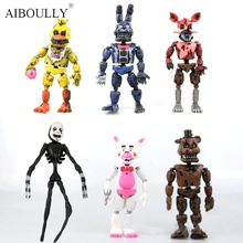 6pcs/set 14-17cm Hot sale Five Nights At Freddy's FNAF bonnie freddy Action toy cartoon Figures toys Kids Gift