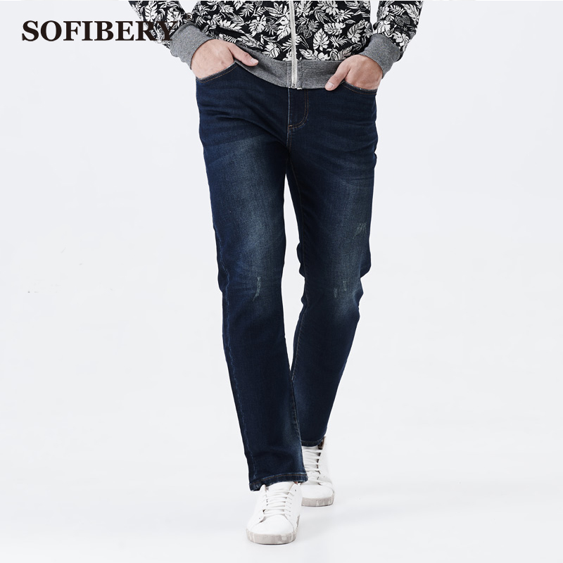 SOFIBERY modern oversized mens stretch jeans elastic waist loose style Slim Straight jeans  brand design large size 38-52Одежда и ак�е��уары<br><br><br>Aliexpress