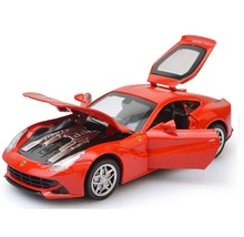 Die Cast Ferra F12, Scale 1/32, Size 14.5Cm, 4 Doors Open W/ Excellent Music And Lights Famous Toys(China)