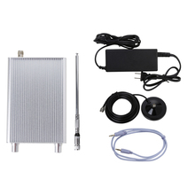 Free Shipping Wholesale NIO-T15A 5W/15W FM PLL Transmitter 5w Kit with Host+Audio Cable+Sucker +Telescopic Antenna+Power Adapter