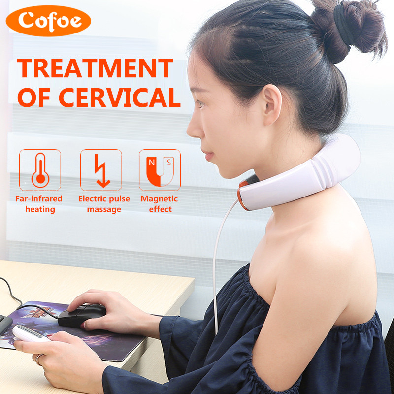 Cofoe Household Cervical Vertebra BT-JZ Cervical Spondylosis Massager Neck Pain Traction Physiotherapy Health Device 2017 Newest<br>