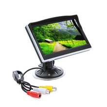 Car Monitor Display 5 inch Camera TFT LCD Screen Digital Color Rear View Monitor Support VCD DVD GPS Camera with 2 Video Inputs(China)