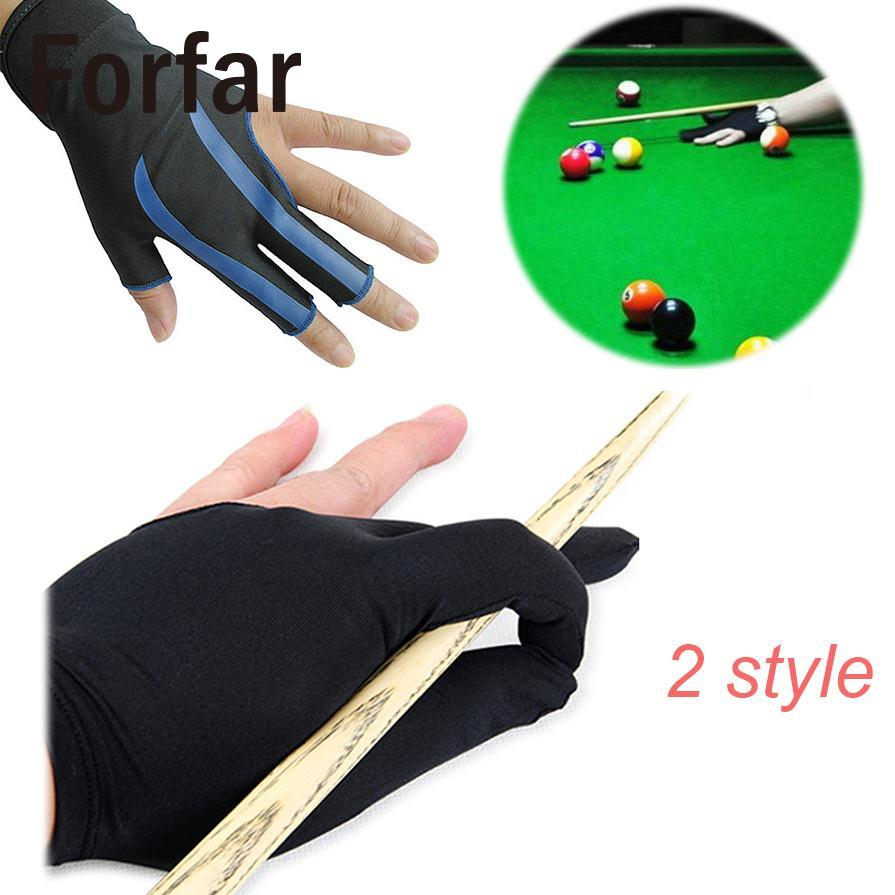Forfar NEW Blue 3-Finger Billiard Gloves Snooker Table Pool Cue Shooters Glove Left Hand Snooker Cue Billiard Accessories(China)