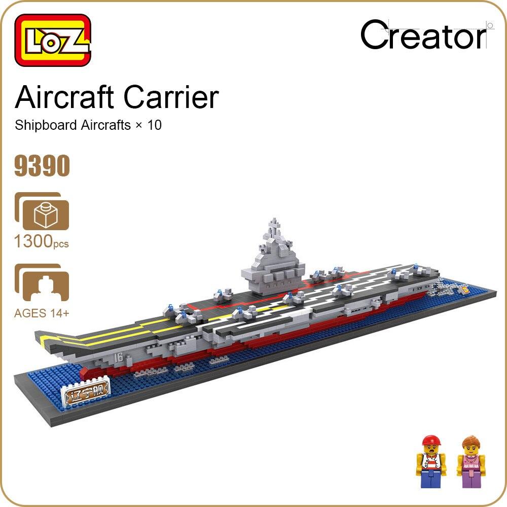 LOZ Diamond Blocks Aircraft Carrier China Toys Ships Models Kits Boats Educational Toys for Children Military Blocks Bricks 9390<br>