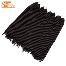 Silky Strands 18'' 120g 24strands ombre Faux Locs Crochet Hair Long 2x Crotchet Braids Hair Extensions Low Temperature Fiber