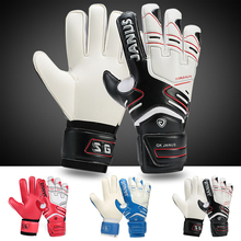 Janus 383 Free shipping Thickened football goalkeeper gloves soccer gloves- LATEX palm(China)