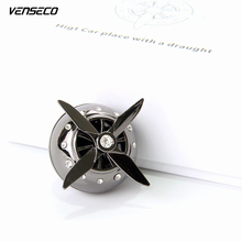 VENSECO solid perfume aircraft engine car perfume gift box car air freshener propeller turn with the wind send car aromatherapy(China)