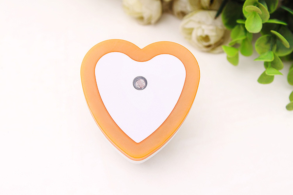 SuperNight Heart AC LED Night Light Intelligent Light Control Sensor Corridor Stairs Bedroom Bedside Toilet Home Decor Wall Lamp (10)