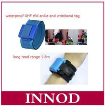 1-6m rfid long range bracelet waterproof ankle wristband uhf rfid tag for triathlon swimming marathon rfid chip timing system