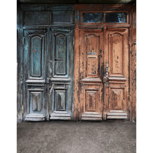 Customize vinyl cloth print textured wood door photo studio backgrounds for model portrait photography backdrops S-2187