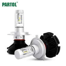 X3 Partol H4 H7 H11 9005 9006 H13 Car LED Headlights Bulbs 50W 6000LM All in one CSP LED Headlamp 3000K 6500K 8000K(China)