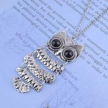 Unique Silver Owl Pendant Necklace Lady Women Vintage Best Gift For Good Quality Delicated Arts Crafts Fast New Hot Selling