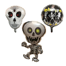 3 Pieces Skull Foil Balloons children Inflatable Toys Human Skeleton Helium Balloon  Halloween Party Decorations Party Supplies