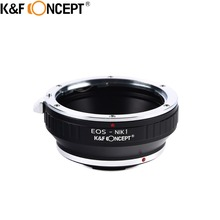 K&F CONCEPT For EOS-Nikon1 Camera Lens Adapter Ring of Aluminum Fit For Canon EOS EF Lens on For Nikon1 Micro V1/J1 Camera Boby(China)