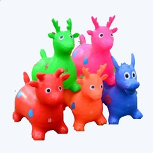 2017 New Design Inflatable Animal Cartoon Mini Jumping Horse Toy Bouncing stress ball Deer Kid Health Care toy Children Hand Toy