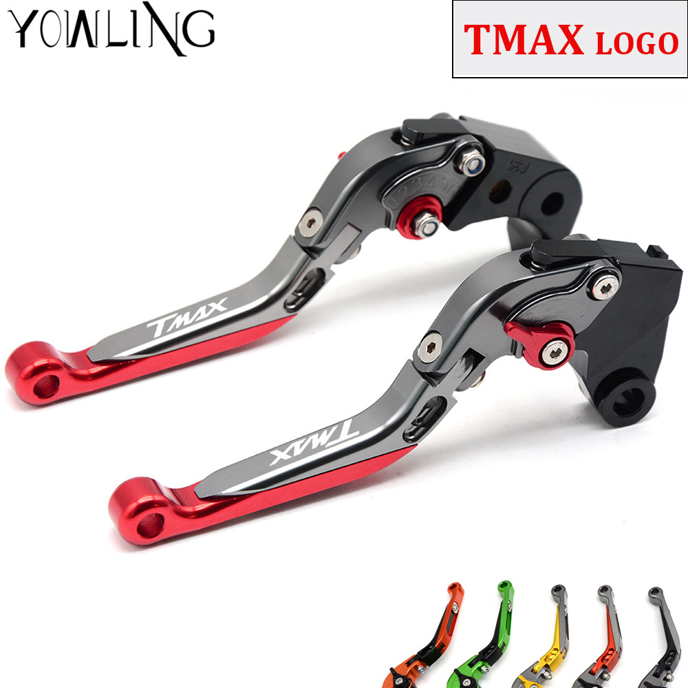 For Yamaha TMAX 500 TMAX 530 T-MAX500 T-MAX530 T MAX 500 530 2003 2004 2005 2006 2007 Adjustable Motorcycle Brake Clutch Levers<br>