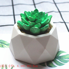 The C973 diamond-shaped cement potted plant silicone molds(China)