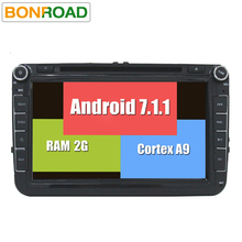 "Android 7.1 Car DVD Player GPS 2Din 8"" Car Radio for EOS Seat Polo Passat B6 Tiguan Golf5 1080P Capacitive Touch Screen Free Map"