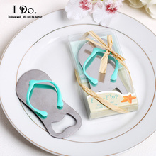 Free Shipping Flip-Flop Bottle Opener Wedding Favors And Gifts Wedding Supplies Wedding Souvenirs Wedding Gifts For Guests(China)