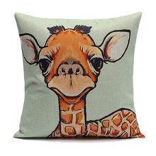 Giraffes Home  Pillow Case Cotton Linen Good Quality pillow cover Leaning 45X45cm