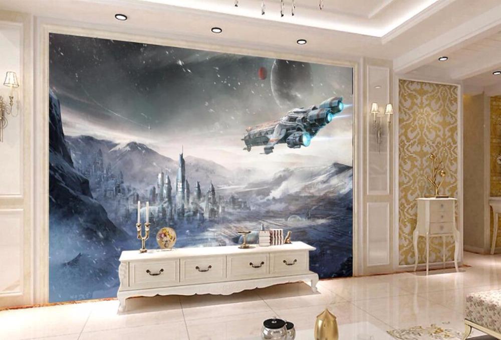 HTB16PEZtKOSBuNjy0Fdq6zDnVXaQ - Stars War Spaceship 3D Cartoon Wallpaper Mural for Kids Room-Free Shipping