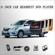 "BigBigRoad Car Headrest Monitor LCD screen 2*9"" DVD player with USB / SD / IR / FM / SPEAKER / GAME / HDMI For Nissan Sunny(China)"