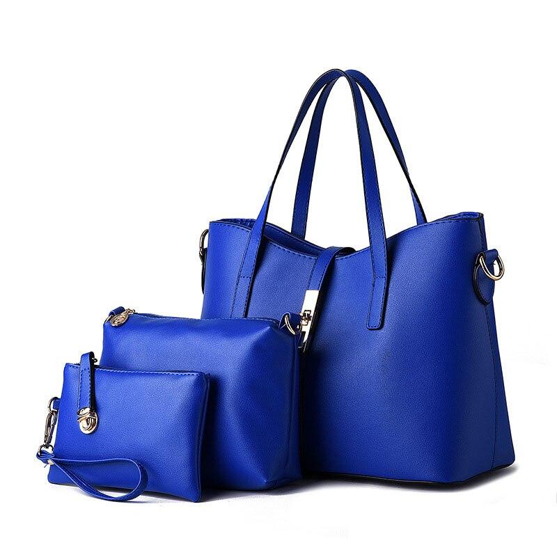 High Quality PU Leather Women Messenger Bags Women Famous Brands Handbags Vintage Crossbody Bag Tote Bag 3 Pcs/Set <br><br>Aliexpress