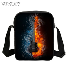 Cool Dinosaur Music Note Bags For Teenage Girls 3D Printing Messenger Bags For Kids Causal Travel Bag Music Party Shoulder Bags