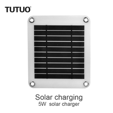 5W 5V USB Port Portable Solar Panel Mobile Phone Charger Outdoor DIY Panel Style Solar Battery Charger for iPhone Android Device(China)