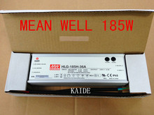 Authentic Taiwan MEANWELL 150w 180w led power supply HLG-185H LED driver waterproof IP65 warranty 5 years(China)