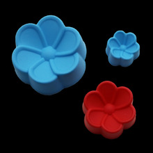 4pcs Diy Cake Decoration Tools Begonia Flower Silicone Muffin Cup Mold Begonia Cake Baking Tool Confeitaria Kitchen Cooking Mold(China)