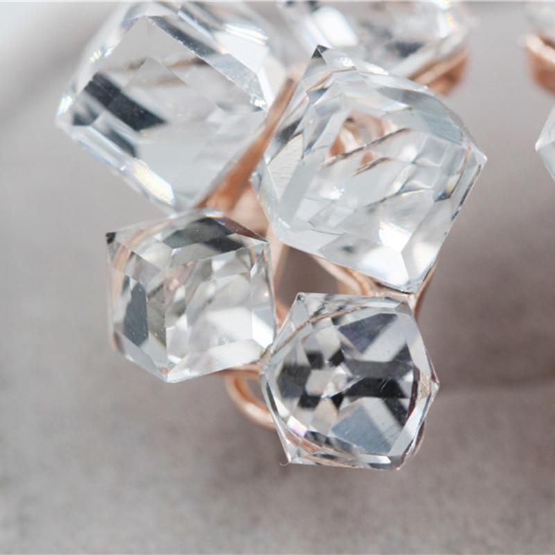 Geometric Crystal Jewelry Sets Necklaces & Pendants Stud Earrings*