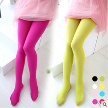 Solid Girls Ballet Dance Tights Velvet Pantyhose Kids Knee High Socks Princess Soft Stockings Very beautiful  candy color Stocki