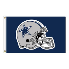 Helmet Banners Dallas Cowboys Helmet Flag 3ftx5ft World Series 2016 Premium Team Football Sport Banner Dallas Cowboys Flag(China)