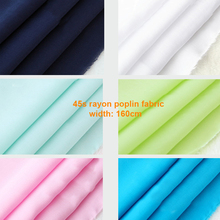 160cm,45s combed viscose cotton material soft pajamas bed sheet fabric plain rayon cloth