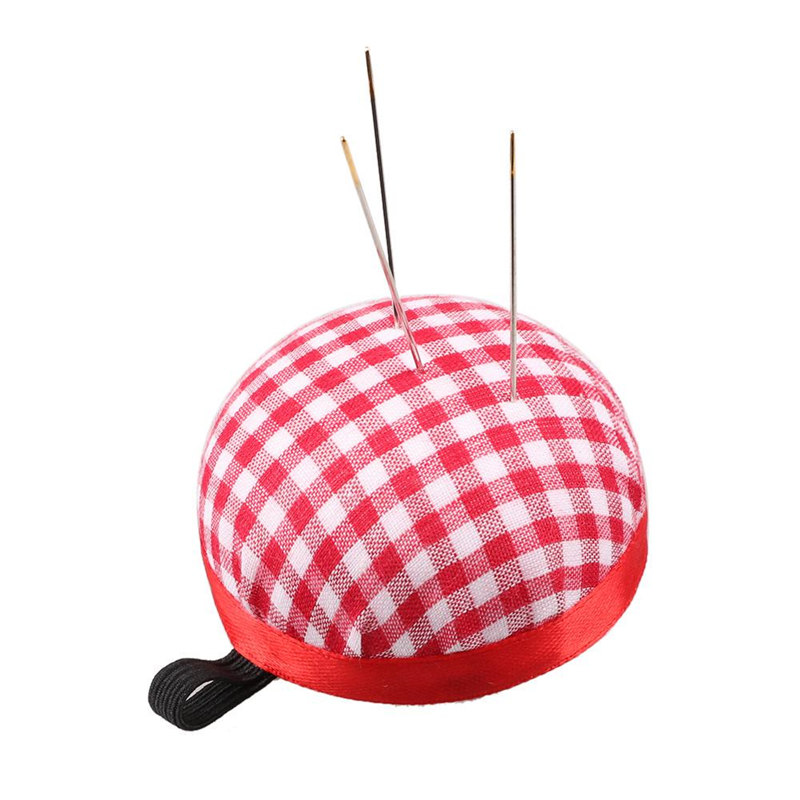 DAWEIF Ball Shape Mini DIY Craft Needle Pin Cushion with Wood Bottom Sewing Tools Accessory Needle Pin Holder