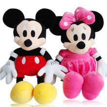 Hot Sale 1pc 30cm/50cm Lovely Mickey or minnie Mouse Plush Toy Doll for birthday Christmas gift