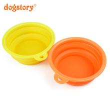 1Pieces/Dogstory 5 Colors Silicone Pet Bowl New Style Folding Portable Cat Dog Bowls Wholesale Sales Pet Drinking Water Bottle