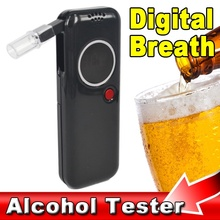 Newest 1pcs Police Professional alcohol tester Digital Breath Tester Breathalyzer Analyzer Red LED Backlight Portable(China)